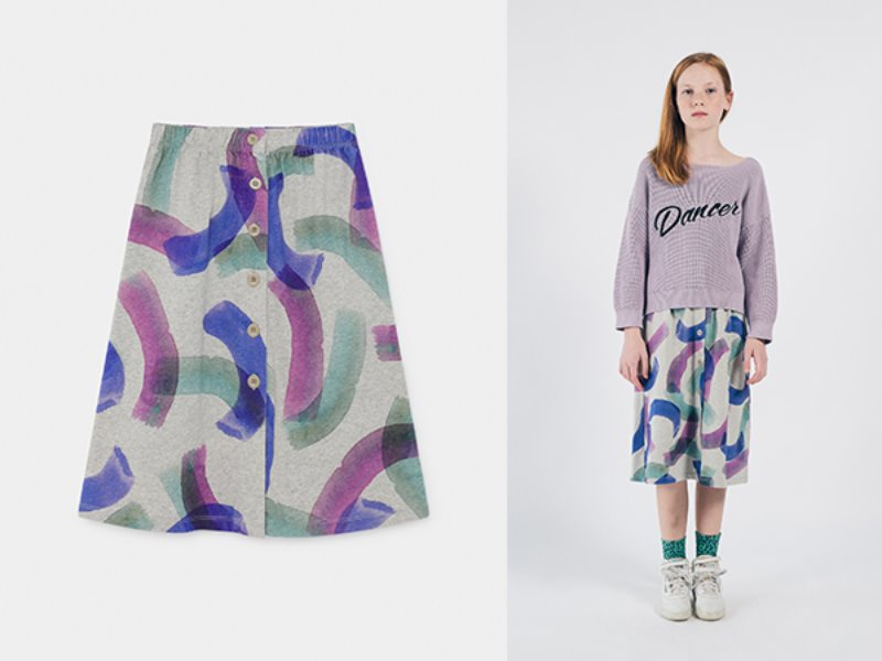 ***50%*** [bobochoses]All Over Painted Jersey Skirt