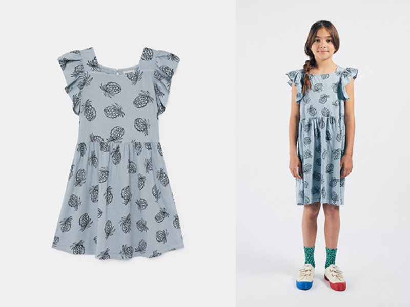 ***50%*** [bobochoses]All Over Pineapple Jersey Ruffle Dress
