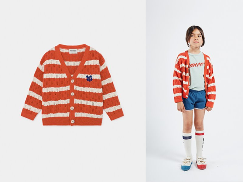 ***50%***[bobochoses]Striped Knitted Cardigan