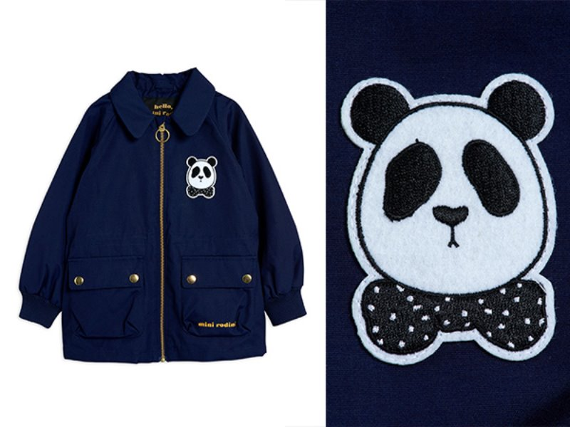 [mini rodini]Panda jacket-Navy