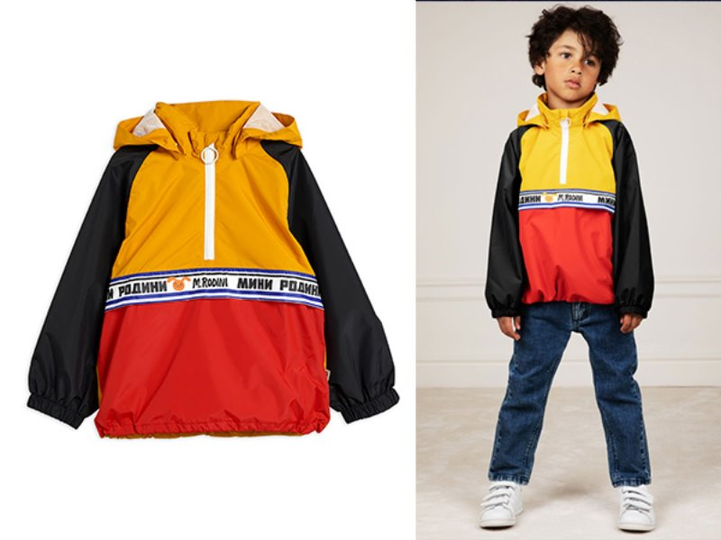 [mini rodini]Windbreaker anorak-Yellow