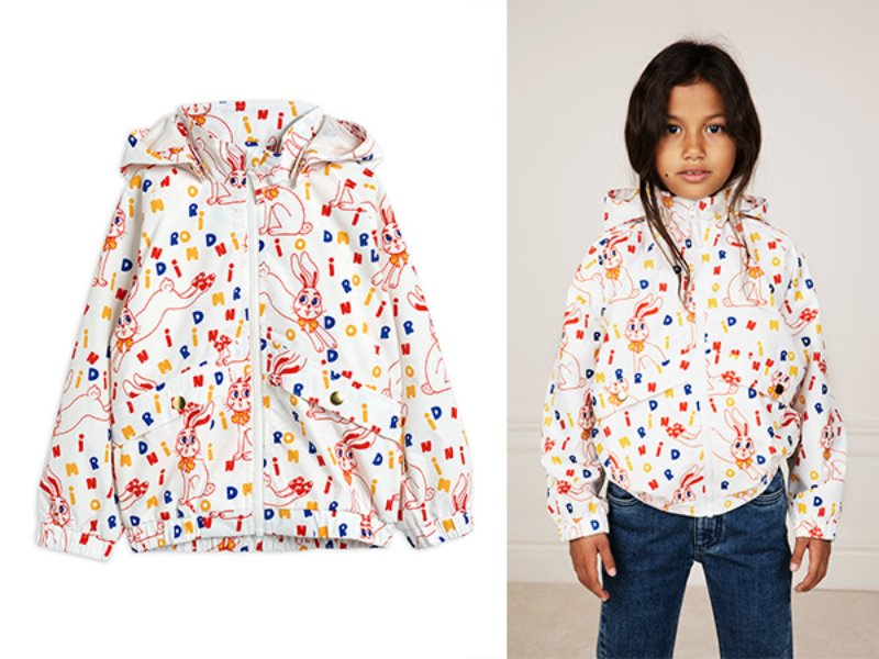 [mini rodini]Rabbit sporty jacket-Offwhite