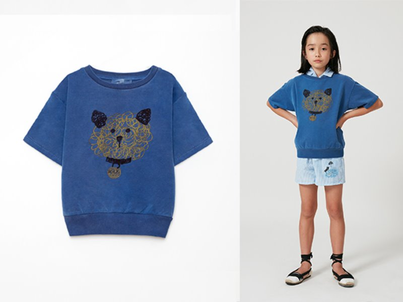 [weekend house kids]Dog short sweat shirt