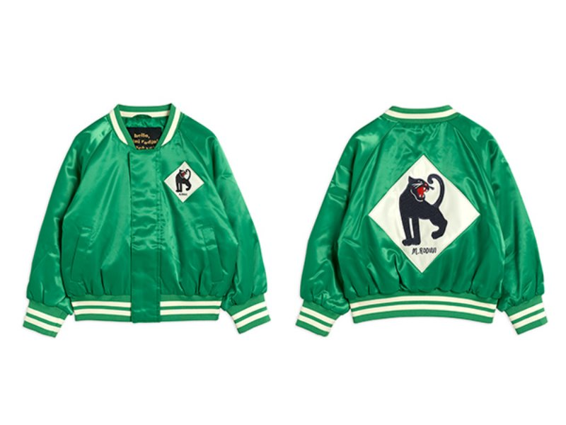 [mini rodini]Panther baseball jacket-Green