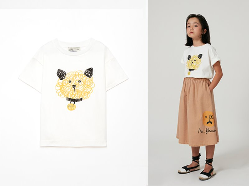 [weekend house kids]Dog t-shirt