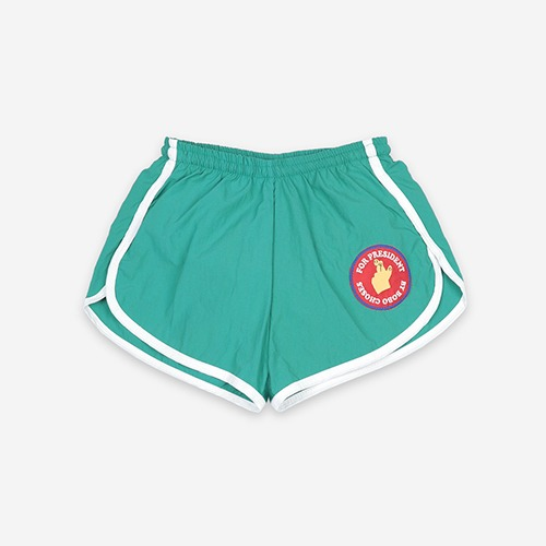 [bobochoses]-KID Fingers Crossed Swim Shorts - Bottle Green