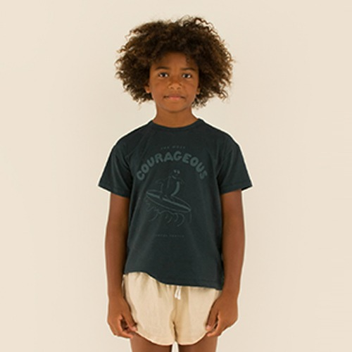 [tinycottons] COURAGEOUS TEE - ink blue/dark teal