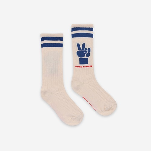 [bobochoses]-KID Victory Long Socks - Turtledove
