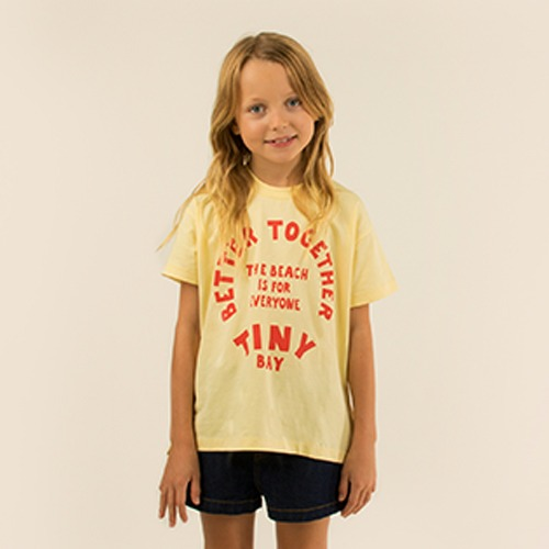 [tinycottons] BETTER TOGETHER GRAPHIC TEE - lemonade/red