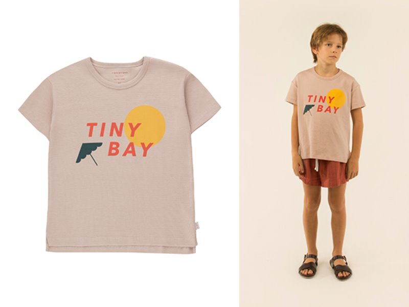 [tinycottons] TINY BAY TEE - dusty pink/red