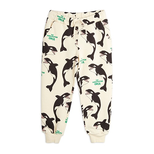 [mini rodini] Orca aop sweatpants - Offwhite