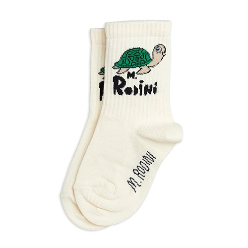 [mini rodini] Turtle sock - Offwhite